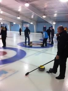 Actual curling. Bullseye.